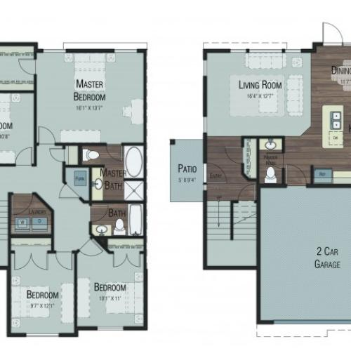 4 bedroom 2.5 bathroom Darlington Select floor plan