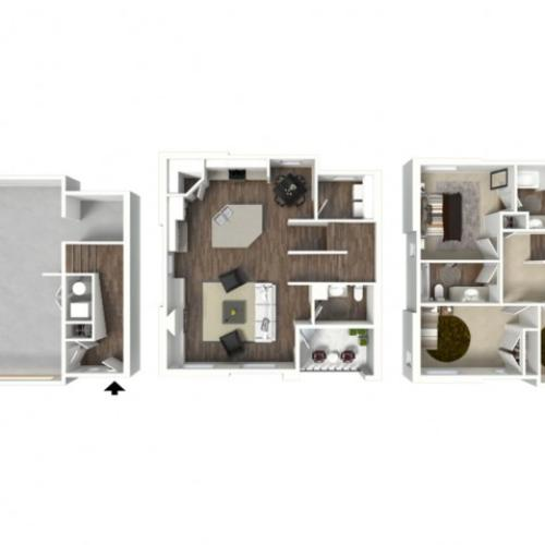 3 Bed 2.5 Bath Canyon Floor Plan