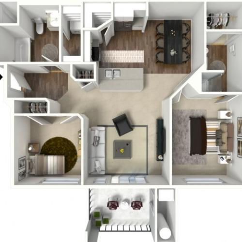 2 bedroom 2 bathroom Belfast Premier 2 floor plan