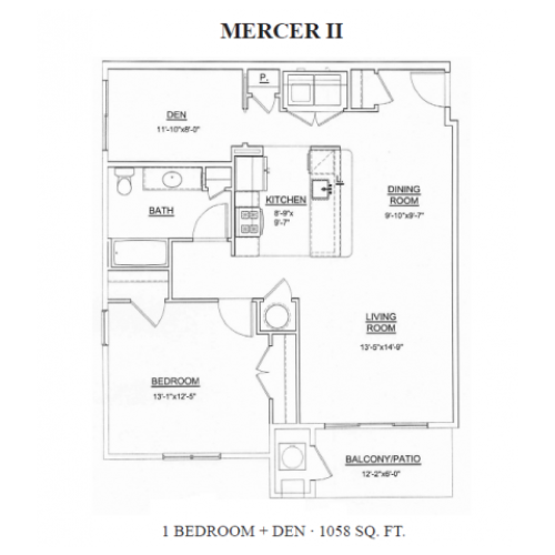 Floor Plan 1 | Apartments For Rent In Ewing NJ | Heritage Court
