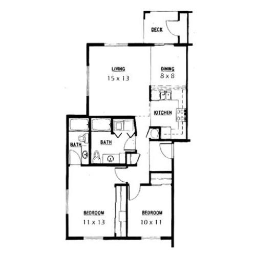 Floor Plan 2 | Parkside Apartments