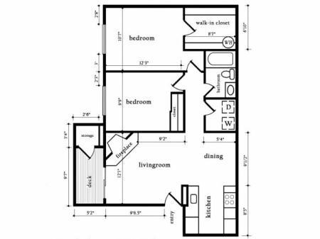 Two bedroom One Bath - Cedar