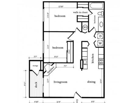 Two Bedroom One Bath - Maple