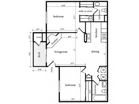 Two Bedroom Two Bath - Sycamore