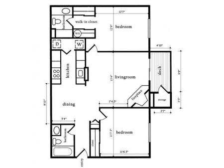 Two Bedroom Two Bath - Willow