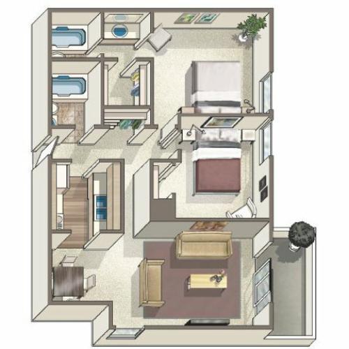 Floor Plan 6 | Lakeview Towers at Belmar