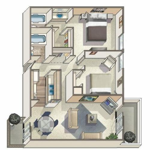 Floor Plan 8 | Lakeview Towers at Belmar