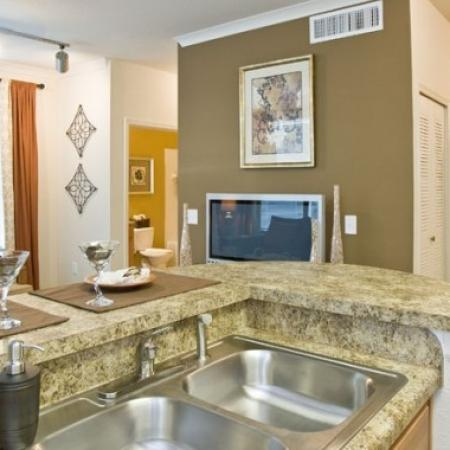 Elegant Kitchen | Orlando Apartments | Aqua at Millenia