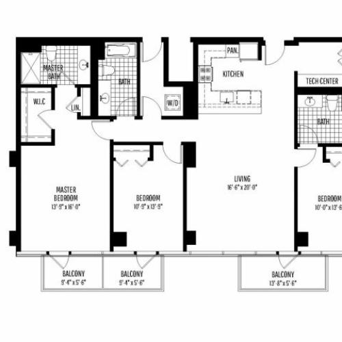 Three Bedroom | Three Bathroom