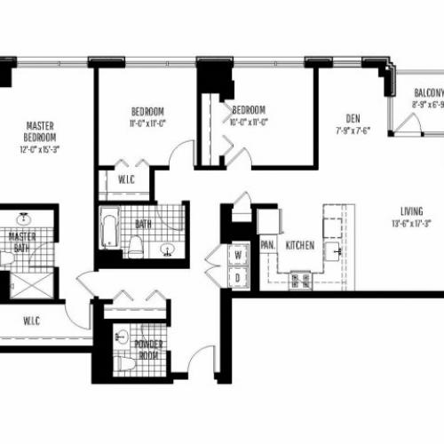 Three Bedroom | Two and a Half Bathroom