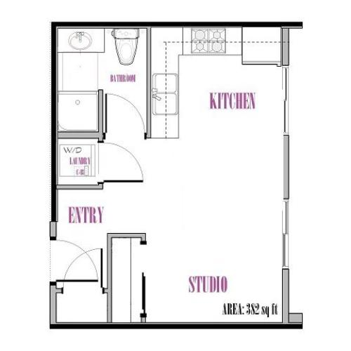 Back Peak | Studio1 bath | from 382 square feet