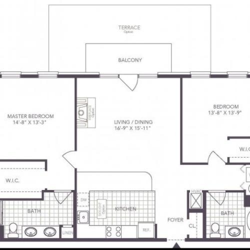 Q | 2 bed 2 bath | from 1176 square feet