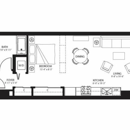 Bravern Apartments: 1 Bed / 1 Bath Apartment In Bellevue WA