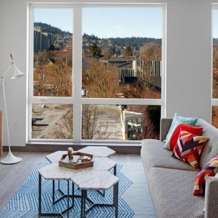 Luxurious Living Room | Apartments In Portland Oregon | The Addy