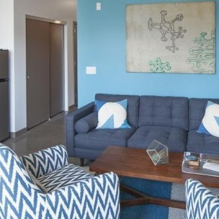 Elegant Living Area | Portland Oregon Apartments | The Addy