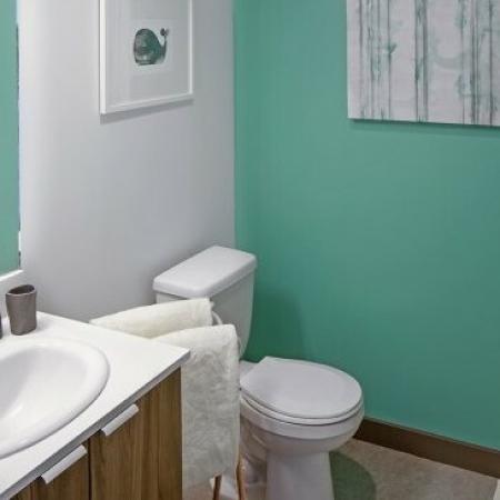Spacious Bathroom | 2 Bedroom Apartments Portland Oregon | The Addy