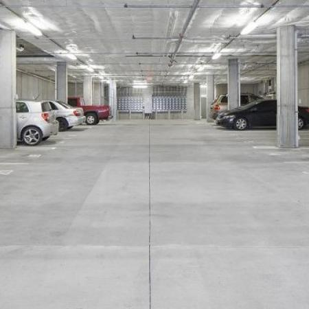 Resident Parking Garage | Apartments In Portland | The Addy