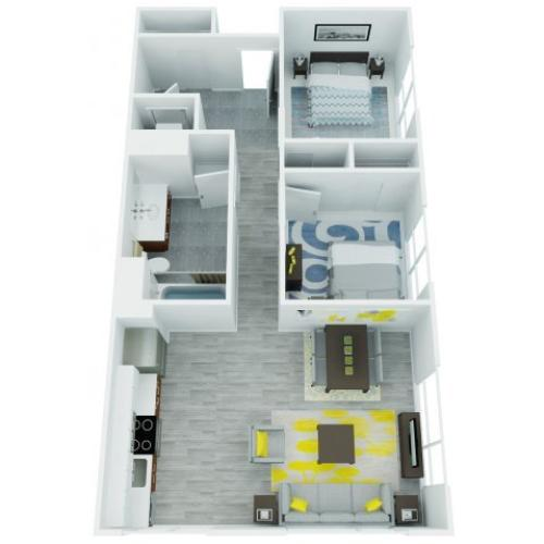 Two Bedroom Floor Plan | The Addy