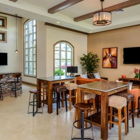 Cafe Area |Luxury Apartments In Orlando Florida | Sanctuary at Eagle Creek