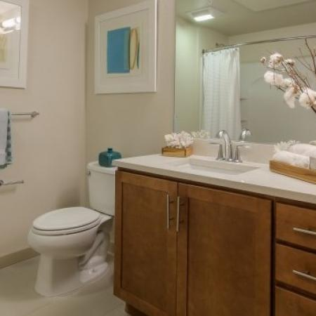 Elegant Bathroom | Apartments For Rent In San Jose CA | 121 Tasman