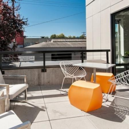 Community Sun Deck | Apartments In Portland | The Addy