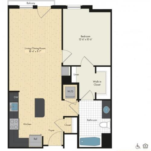 Floor Plan 6 | Luxury Apartments In Bethesda Maryland | Upstairs at Bethesda Row