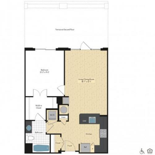 Floor Plan 10 | Luxury Apartments In Bethesda | Upstairs at Bethesda Row
