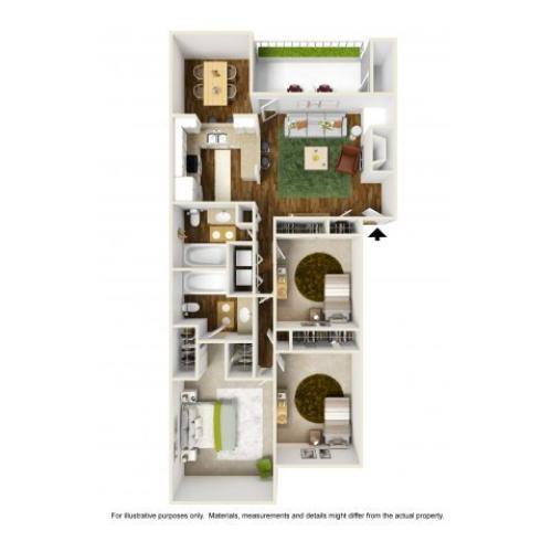 3 Bedroom Floor Plan | Rivercrest Meadows 2