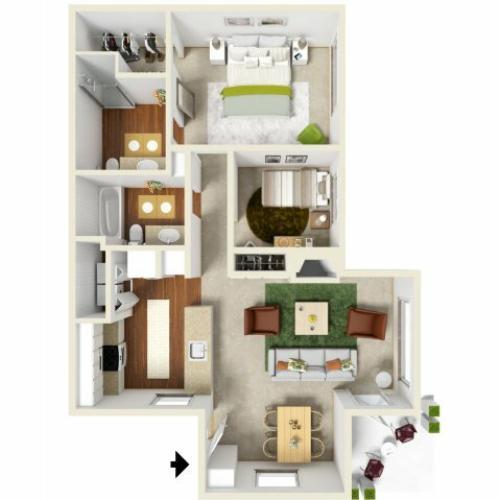 Village at Cascade | Floor Plan 1