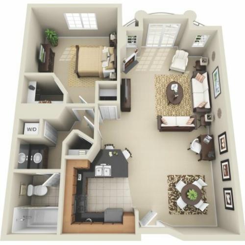 One Bedroom Floor Plan | Apartments In Los Angeles | The Preston Miracle Mile