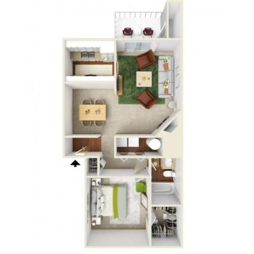 One Bedroom Floorplan | Landmark