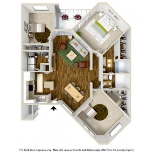 Portofino | 3 bed 2 bath | from 1127 square feet