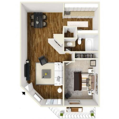 Stratford | 1 bed 1 bath | from 632 square feet