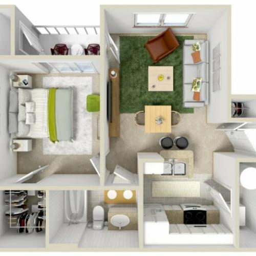 Floor Plan | Laurel Canyon Apartments 2