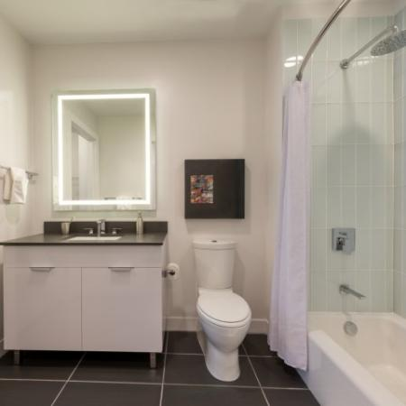 Residents in the Bathroom | North Bethesda Apartments | Pallas at PikeRose