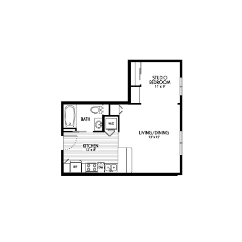 Studio Floor Plans | Apartments For Rent In Eugene Oregon | Crescent Village East