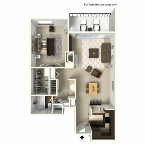 1 Bedroom Floor Plan | Alta Springs