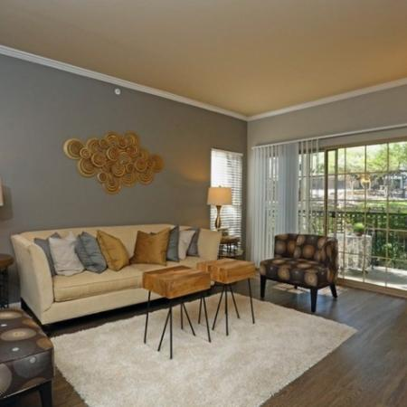 Elegant Living Room | One Bedroom Apartments Austin | The Village at Gracy Farms