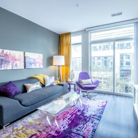 Spacious Living Room   North Bethesda Apartments   PerSei
