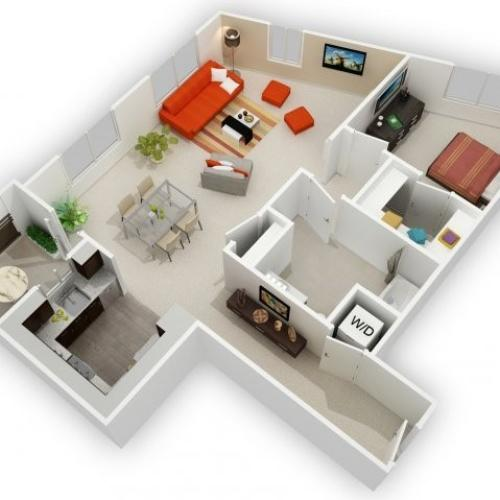 One Bedroom Floorplan | 121 Tasman 5