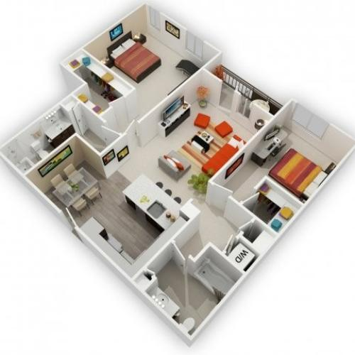 Two Bedroom Floorplan | 121 Tasman 8