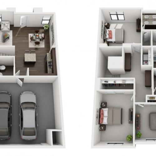 3X2.5 | 3 bed 2 bath | from 1464 square feet