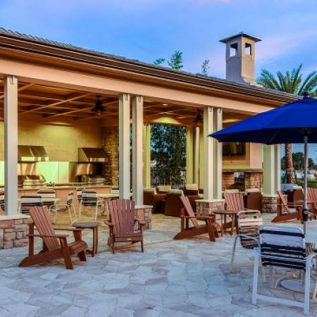 Outdoor Lounge | Luxury Apartments In Orlando Florida | Sanctuary at Eagle Creek
