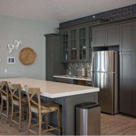 Resident Clubhouse Kitchen | Apartments For Rent Sandy Utah | Rockledge at Quarry Bend