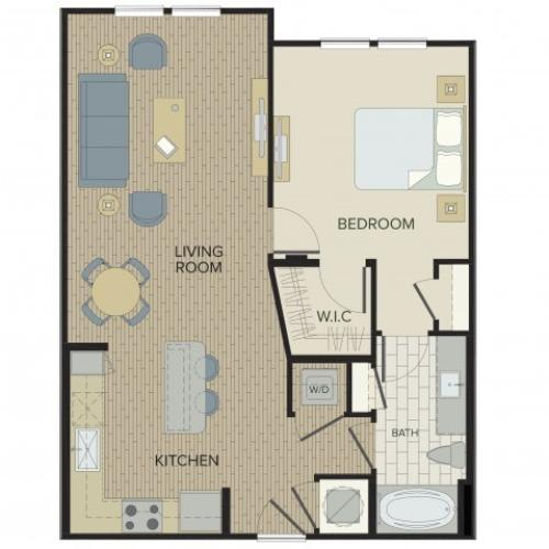 1 Bdrm Floor Plan | Apartments For Rent Port Orange FL | Sanctuary at West Port