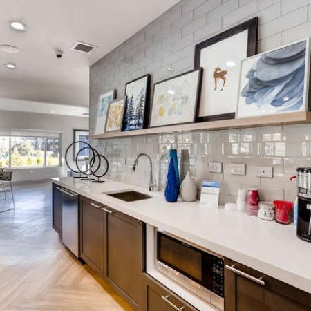 Resident Coffee Bar | Apartments in Denver, CO | The Lodge Apartment Homes