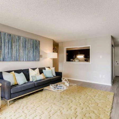 Spacious Living Room | Apartments in Denver, CO | The Lodge Apartment Homes