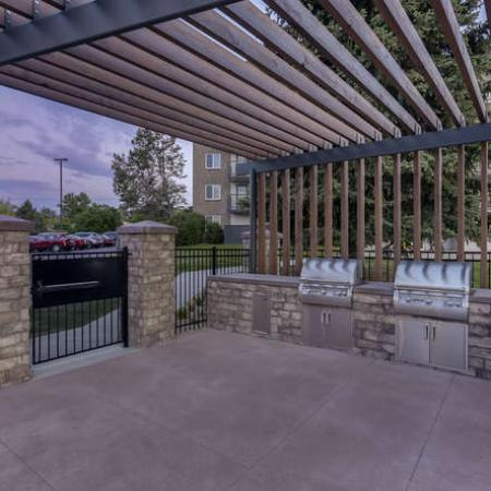Community BBQ Grills | Denver CO Apartment For Rent | The Lodge Apartment Homes