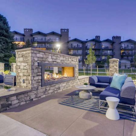Community Fire Pit | Apartments Denver, CO | The Lodge Apartment Homes