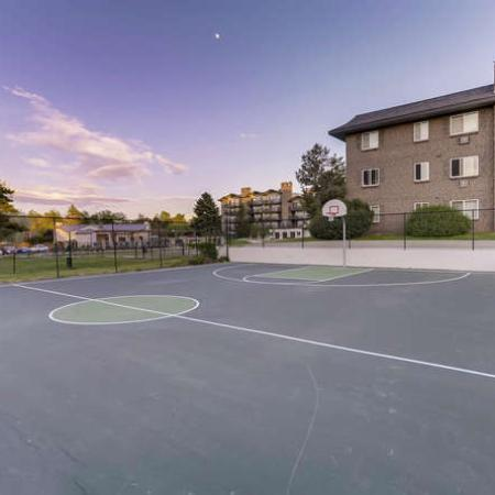 Community Basketball Court | Apartments Homes for rent in Denver, CO | The Lodge Apartment Homes
